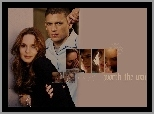 Wentworth Miller, napis, Prison Break, Sarah Wayne Callies